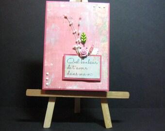 hand made greeting card, happy birthday, friendship, birthday,