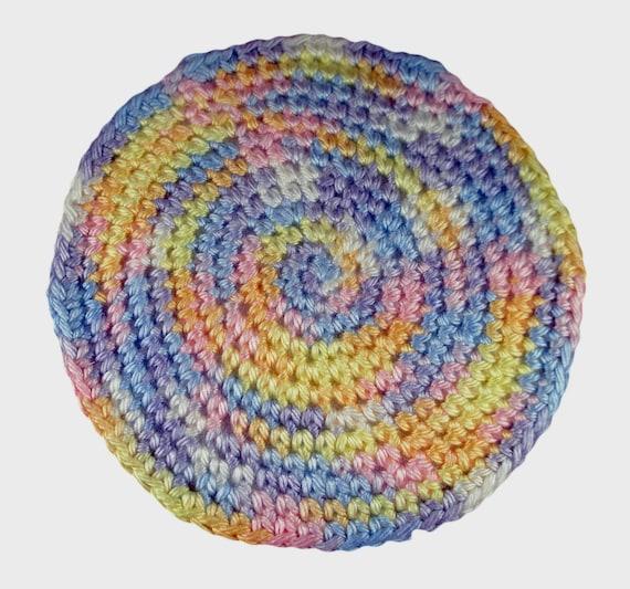 Star Wars Crochet Dolls Free Pattern : Doll Crocheted Rug Multi pastels 6 round area rug