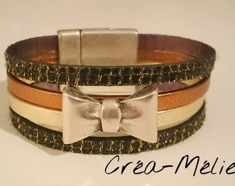 small cuff black/gold/bronze
