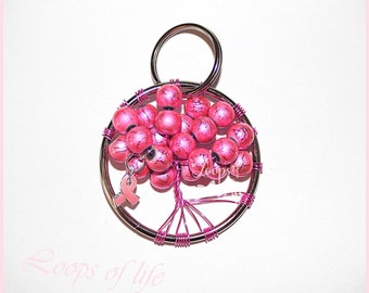 Breast Cancer Keychain - Breast Cancer Awareness Keychain - Pink Awareness Keychain - Support Keychain - Survivor Keychain - Breast Cancer