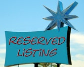 Reserved Listing ♥