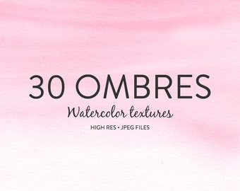 Watercolor Backgrounds - Hand painted Watercolor Ombre Background Textures