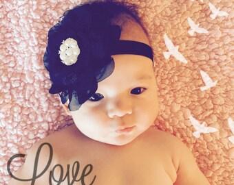 Black and Diamante Headband