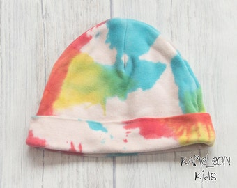 Rainbow Baby Hat - Cotton Baby Hat, Perfect Baby Arrival Outfit Accessory, Rainbow Baby Gift, Baby Hats for Girls Baby Boy Hat, Unisex Baby