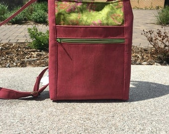 Made-to-Order two Zip Hipster Crossbody Messenger Bag