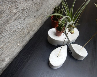 Konkreter Luftpflanzenhalter 'drop' – Concrete Air Plant Holder