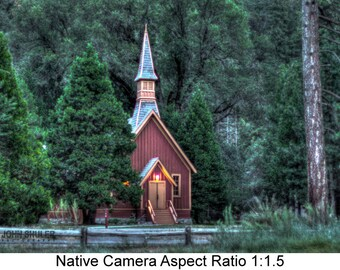 Yosemite Valley Chapel: Architectural art photography prints for home or office wall decor.