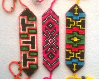 Embroidered bracelets for child