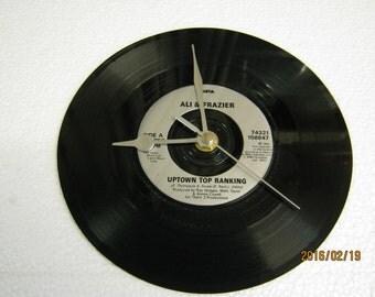 "Ali & Frazier - ""Uptown Top Ranking"" Record Wall Clock"