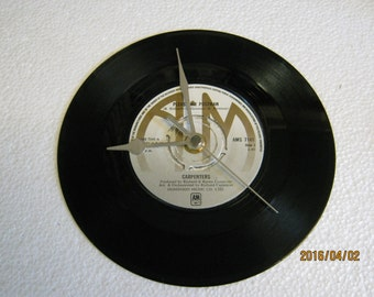 "The Carpenters - ""Please Mr Postman"" Vinyl Record Wall Clock"