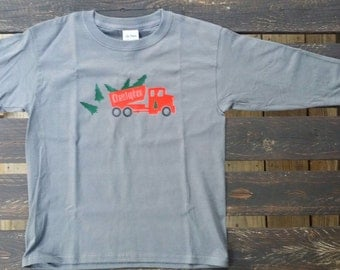 Christmas Truck with Trees in the Back Personalized