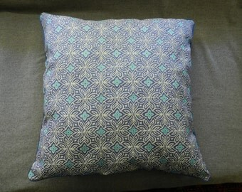 Lavender-blue decorator fabric pillow cover