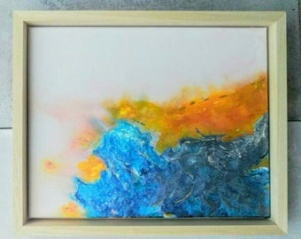 "Abstract mixed media painting ""Symbiosis"""