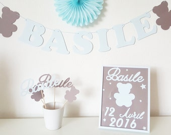 Gifts personalized birth - framework-Garland-mini photobooth