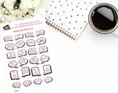 Planner Stickers | Scripture Stickers|Speach Bubble Stickers on Joy| Erin Condren| Happy Planner| Inkwell Press| Plum Paper Planner| RB009