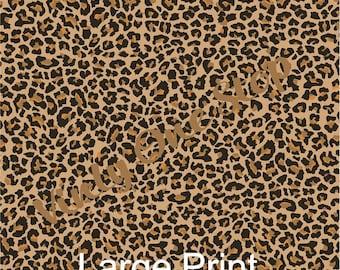 Cheetah Print 12x12 _12 x 6 inch Vinyl Sheet, Mix and Match. First Impression Permanent Vinyl