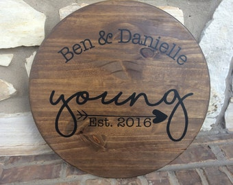 Personalized Lazy Susan Modern Love Story