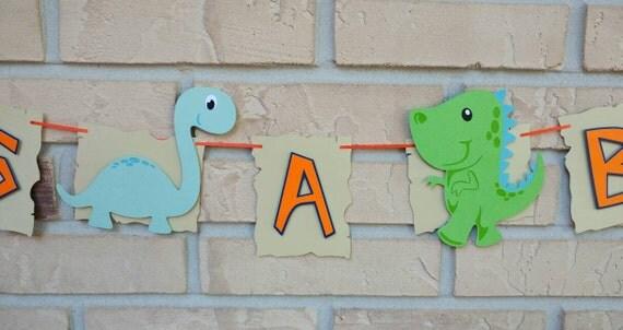 Dinosaur Baby Shower Banner Its A Boy Banner Dinosaur Banner