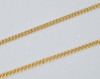 """Gold Filled Chain 22.5"""" Inch 18k Gold-filled findings for gold filled jewelry making Cg77"""
