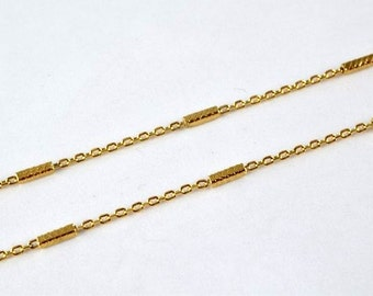 """Gold Filled Chain 17"""" Inch 18k Gold-filled findings for gold filled jewelry making Cg153"""