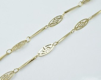 "Antique Gold Filled Chain 21.25"" Inch Gold-filled for gold filled jewelry making Item#789222022747"