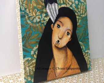 Wahine, An Original Mixed Media Painting by ChiarArtIllustration