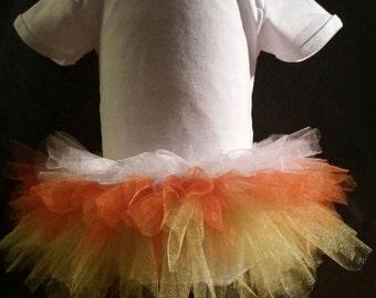 Candy Corn Halloween Tutu 6-12 months