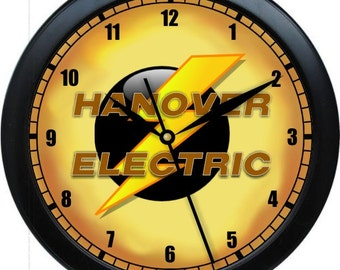 """Electrical Contractor Wall Clock 10"""" Personalized Wall Clock Office Decor Parts Department Gift"""