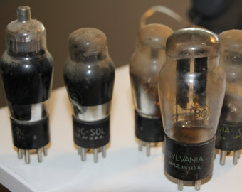 Lot of Five Radio Tubes, Steampunk Accessories