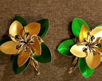 Scale Flower Barrettes