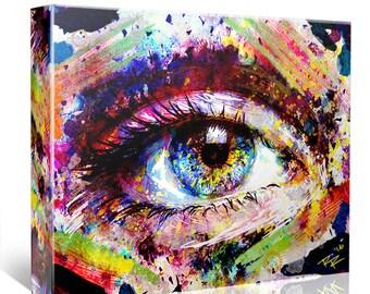 Eye Canvas Art, Eyeball Canvas, Eye Original painting