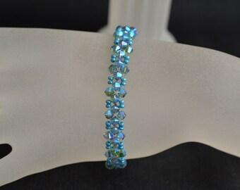 Swarovski crystal bracelet end indicolite ab2x
