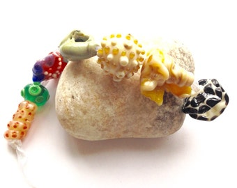 Beach Themed Lampwork Beads SRA
