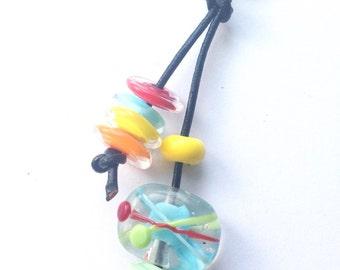 Chemistry Atom Bagcharm Lampwork Beads SRA