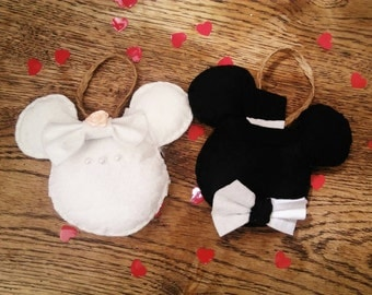 Mickey and Minnie, bride and groom couple wedding gift