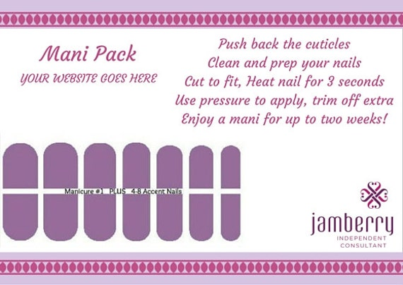Jamberry mani pack template memes for Jamberry sample card template