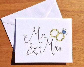 Wedding Card- Mr. & Mrs.