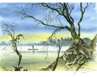 La traversata - Original watercolour paintings  by Andrea Rossi