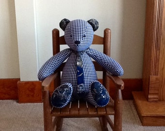 Hand Crafted Rememberance Heirloom Bear
