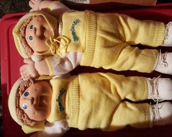 Cabbage patch twin baby dolls original clothing
