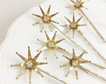 Starburst hair pins - set of 6