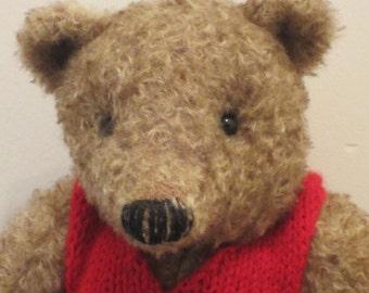 Bernard - a O.O.A.K hand stitched mohair artist bear.
