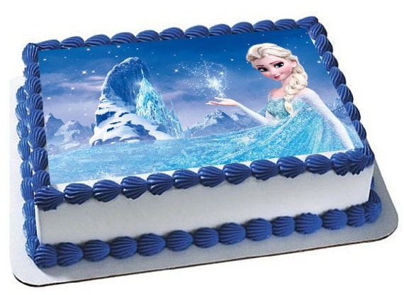 Frozen Square Birthday Cake Ideas