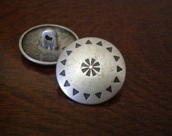 "3 - Aztec Metal Buttons with Shank  3/4"" (20mm)"