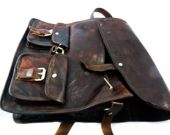 Vintage Style Satchel Leather Bag