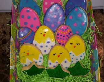 Easter Cookies - Bunnies, Chicks, Easter Eggs