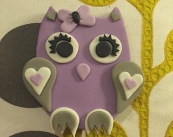 Custom Lavender and Grey Cake Topper