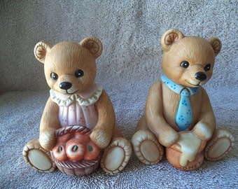 Vintage Home Interior Figurine Bears Etsy