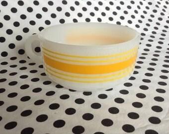 C.1960's~Yellow Stripe~ Glasbake Stackable Bowl J2711