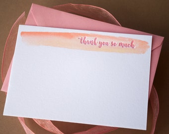 Thank You Note Card - Spring Watercolor